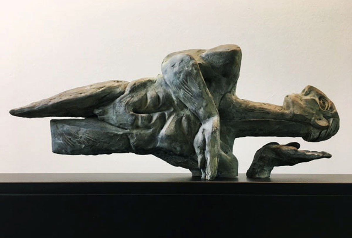 PIET PEERE - SCULPTURE - PETRIFIED JUMP